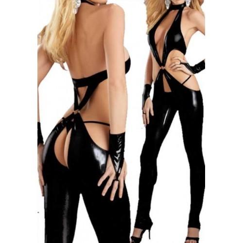 [1013]Özel Bölgesi Açık Tüm Vücut Deri İç Giyim
