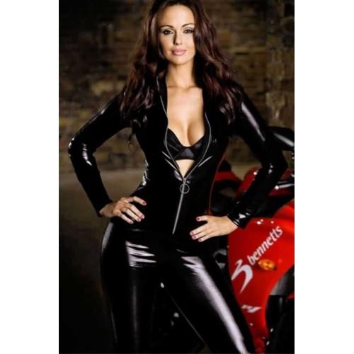 (675) Deri Motorcu Kız kostümü